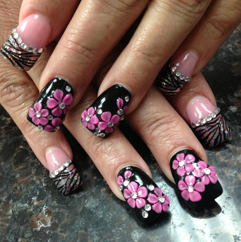 3d Cherry Blossom Nail Art Gallery
