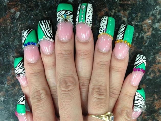 Half nail design