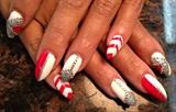 sharpie red & white w/ diamond