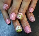 sweet pink w/ 3d flowers