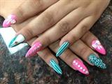 cute sharpie nails