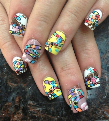 Candy Crush Map Nail Art Gallery