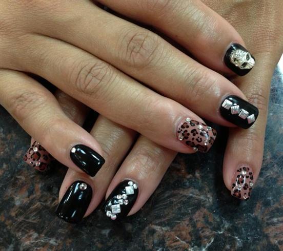3d skull nails