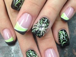 nail art: Spider Web