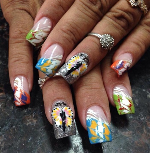 summer  nail art gallery