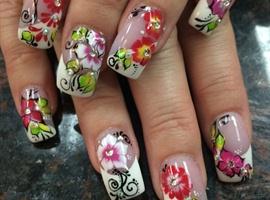 nail art: My spring Nails
