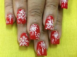 nail art: Snow Day
