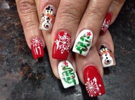 nail art: Love Christmas