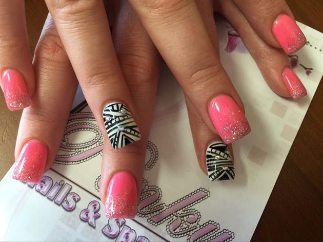 Дизайн ногтей с буквой к