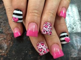 nail art: Wild Love