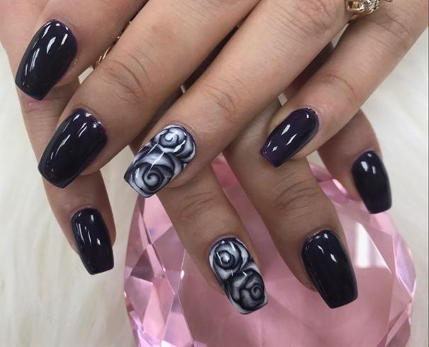 Black Rose Nail Art Gallery