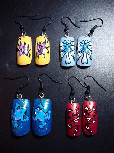 Nail Art Earrings