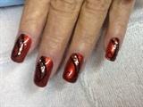 Bronze & Glitter Swirls