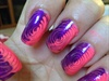 Hot Pink, Purple Swirl