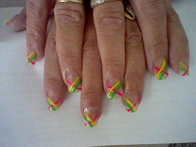 neon stripe nail art - Nail Art Gallery