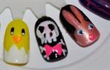 chick, skull, rabbit