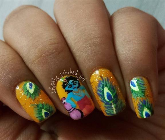 Krishna Janmashtami Nails