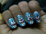 Doraemon nail art