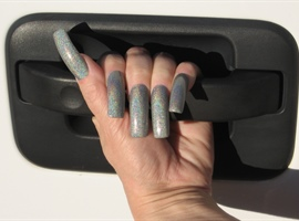 nail art: Holographic