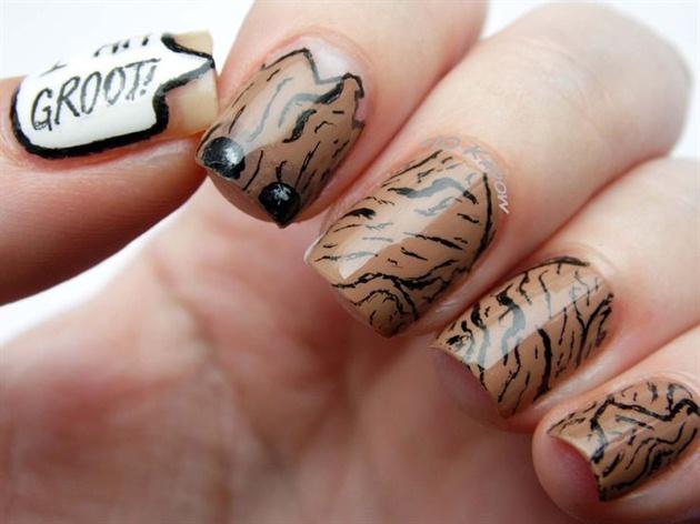 I am Groot! nails