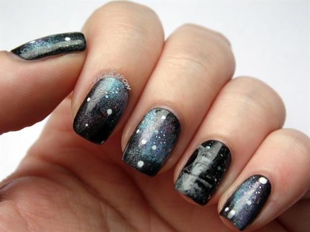Death Star Galaxy Nails Nail Art Gallery