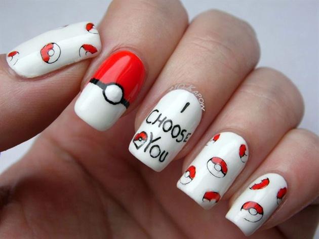 Pokemon Valentines Day Nails Nail Art Gallery