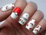 Pokemon Valentines day nails