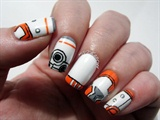 BB-8 Star Wars nails
