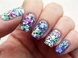 Pastel Galaxy nails 2