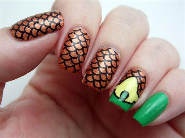 Aquaman nails