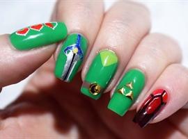 nail art: Toon Link Nails