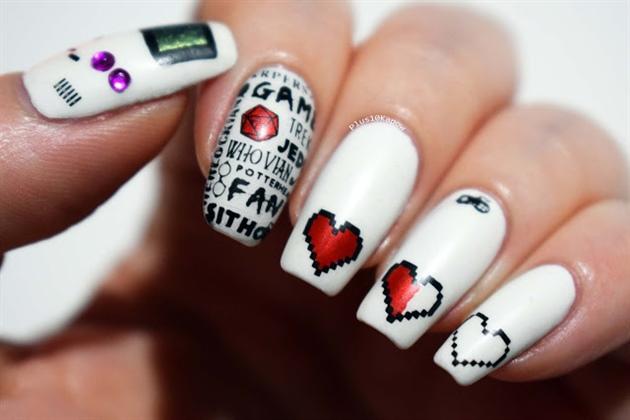 Gamer fandom 20 nails nail art gallery gamer fandom 20 nails prinsesfo Images