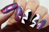 Spider-Gwen Nails