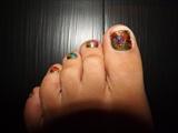 Caviar toenail art
