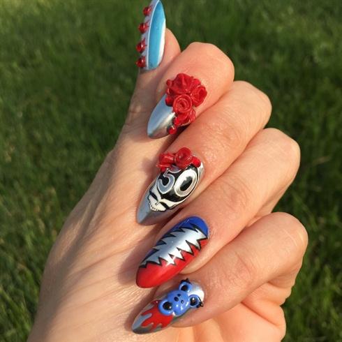 Grateful dead nail art nail art gallery grateful dead nail art prinsesfo Gallery