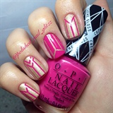 Pink & Gold (Used Striping Tape)