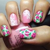 Vintage Roses And Polka Dots