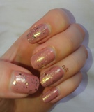 Pink with gold glitters