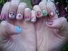 Cutie nail art for short nails
