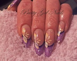 Purple gel nails by Ilona