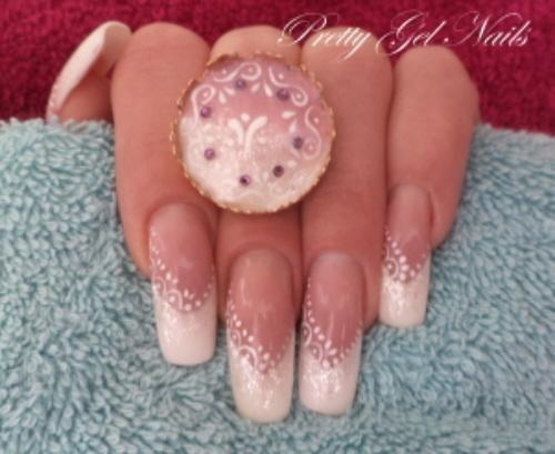 Wedding nails & ring by Ilona