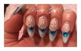 Blue gel nails by Ilona