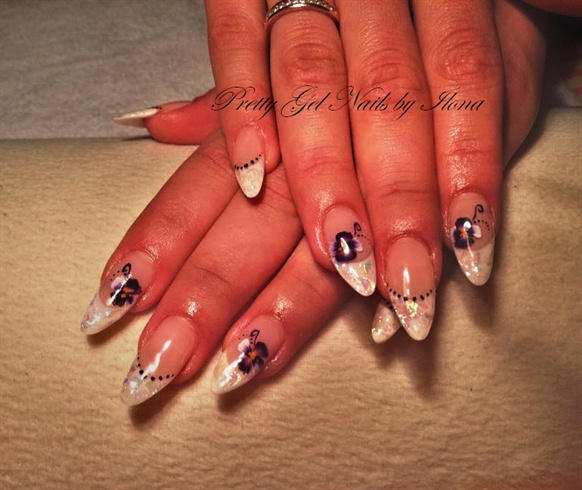 Gel Nail Art Gallery: Sculpted Gel Nails /acrylic Painted/