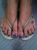 purple gelish with glitter
