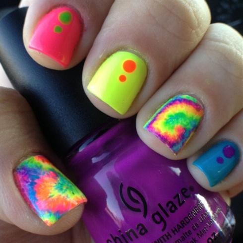 Tie-Dye Nails! by PrimpdNPolishd from Nail Art Gallery