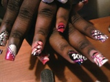 Pink, Black and White 2010 nails