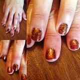Fall Glitter Nails