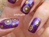 gold on purple