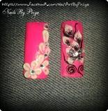 3d acrylic floral nails....