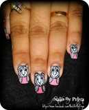 cute teddy bear nails